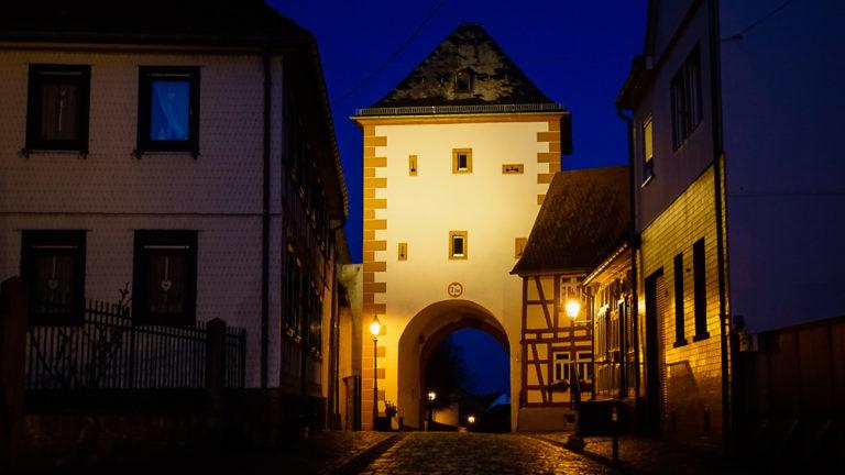 Obertor-Beleuchtung Hochstadt Obertor Copyright Thomas-Wa